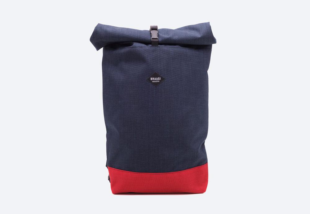Braasi Industry — Rolltop — batoh — modrý — roll-top — rolovací vstup — urban, outdoor, městský
