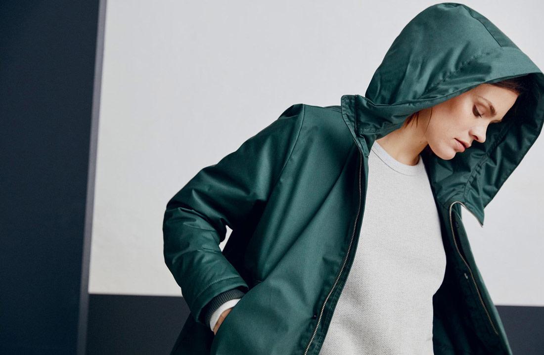 Makia — dámská zimní bunda s kapucí — zelená — parka