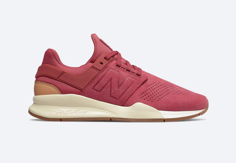 New Balance 247 — boty — pánské, dámské — tenisky — sneakers — pastelové červené