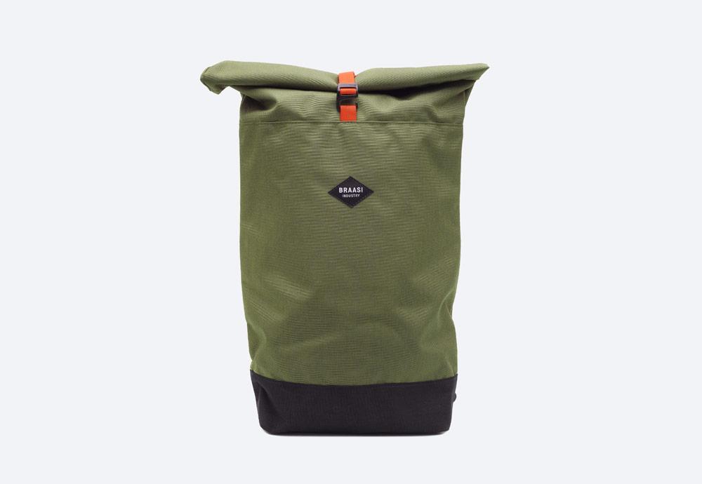 Braasi Industry — Basic OA — batoh — zelený, olivový — roll-top — rolovací vstup — urban, outdoor, městský