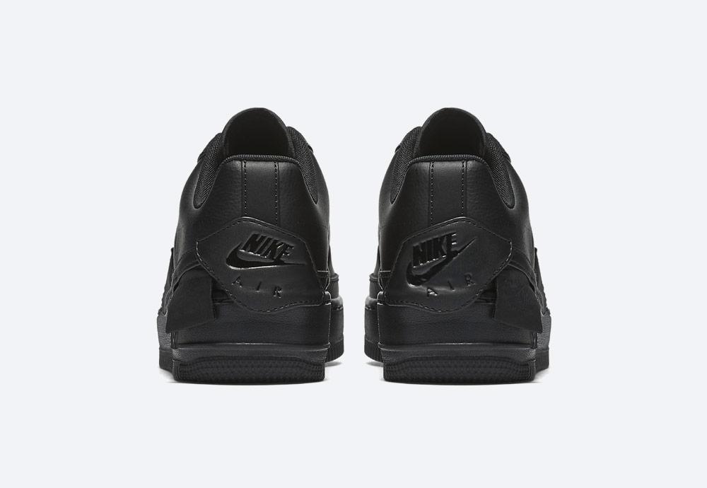Nike Air Force 1 Jester XX — dámské boty — tenisky — sneakers — černé — zadní pohled