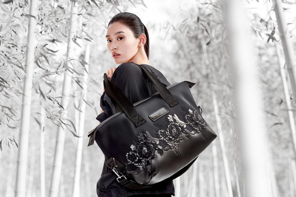 adidas by Stella McCartney — černá taška — gymbag — funkční sportovní oblečení — podzim/zima 2018