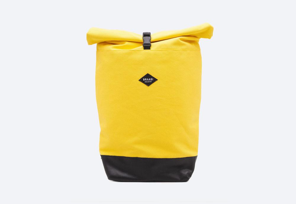 Braasi Industry — Mojo — batoh — žlutý — roll-top — rolovací vstup — urban, outdoor, městský