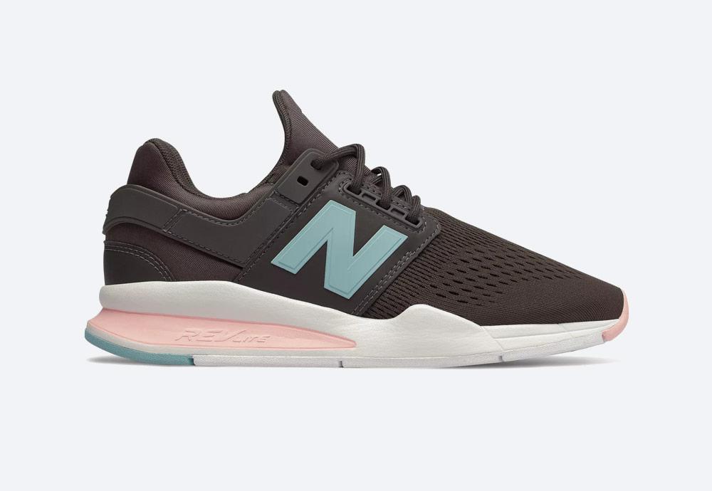New Balance 247 — boty — dámské — tenisky — sneakers — ěedo-hnědé