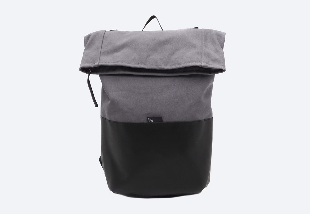 Braasi Industry — Haak — batoh — šedý — roll-top — rolovací vstup — urban, outdoor, městský