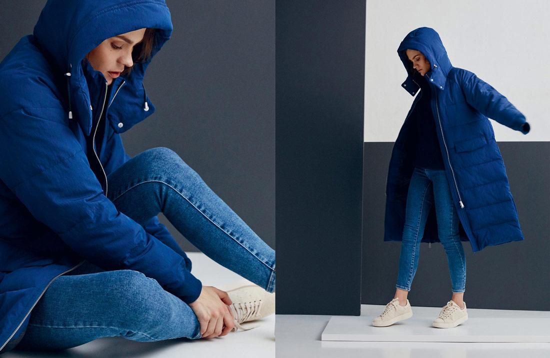 Makia — zimní prošívaná bunda s kapucí — dámská