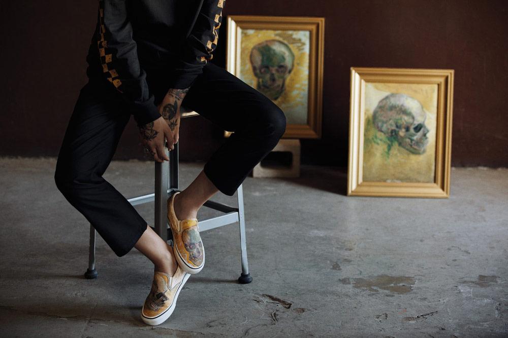 Vans x Van Gogh — nízké tenisky bez tkaniček Slip-On — Lebka
