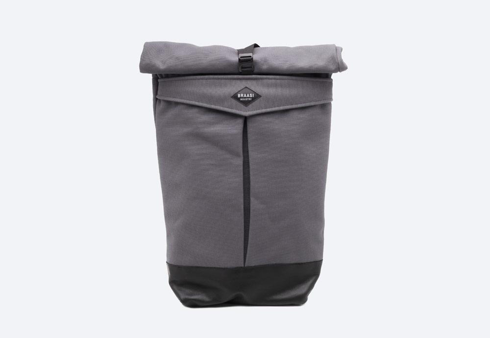 Braasi Industry — Levo — batoh — šedý — roll-top — rolovací vstup — urban, outdoor, městský