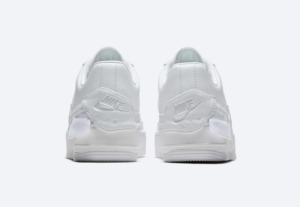 Nike Air Force 1 Jester XX — dámské boty — tenisky — sneakers — bílé — zadní pohled