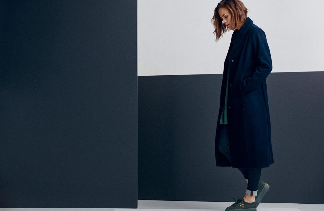 Makia — dámský zimní kabát — modrý