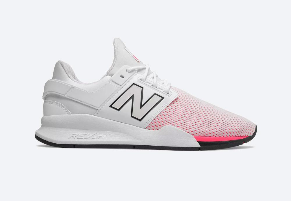 New Balance 247 — boty — pánské, dámské — tenisky — sneakers — bílé, růžové