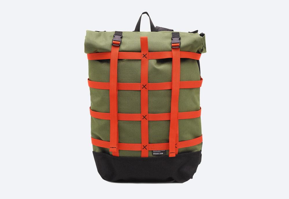 Braasi Industry — Webbing — batoh — zelený, olivový — roll-top — rolovací vstup — urban, outdoor, městský