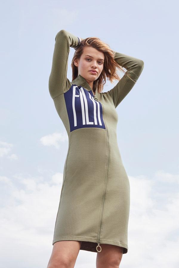 Fila — pouzdrové šaty — zelené — sportovní oblečení — podzim/zima 2018