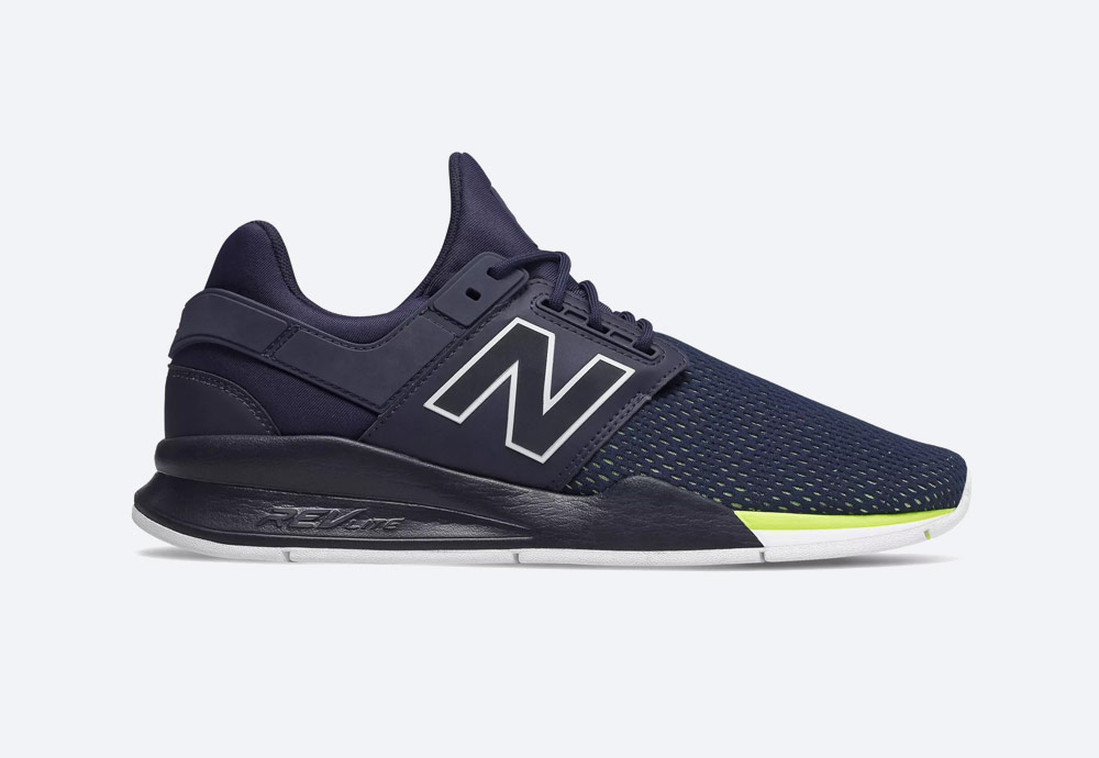 New Balance 247 — boty — pánské, dámské — tenisky — sneakers — modro-fialové