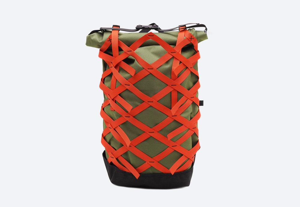 Braasi Industry — Evo — batoh — zelený, olivový — roll-top — rolovací vstup — urban, outdoor, městský