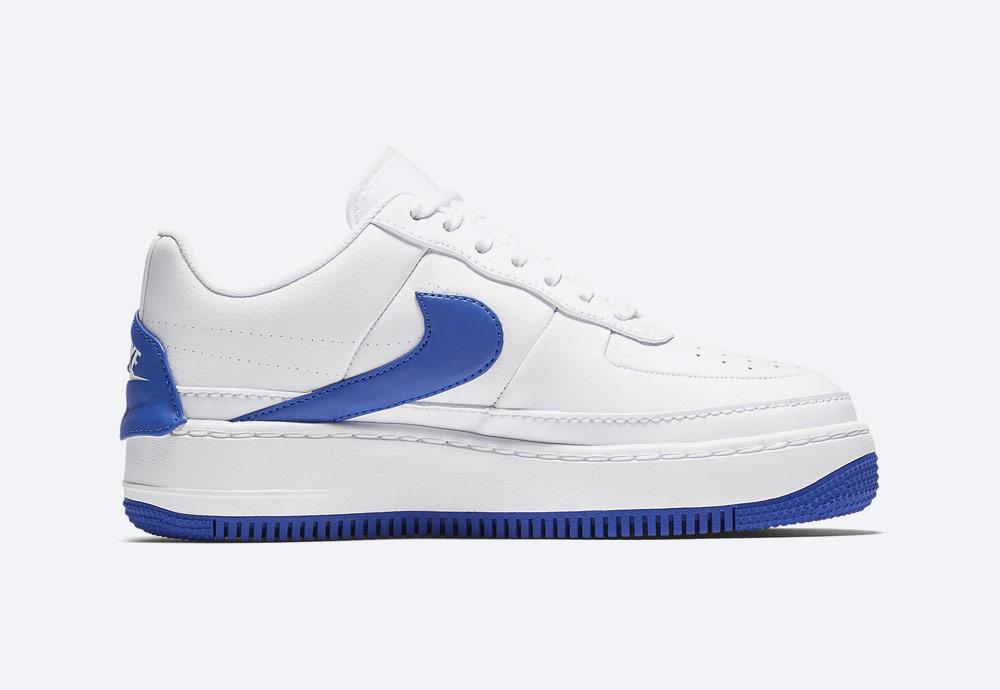 Nike Air Force 1 Jester XX — dámské boty — tenisky — sneakers — bílé, modré detaily