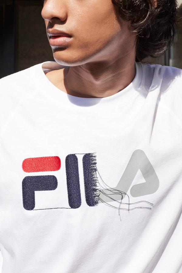 Fila — bílé tričko s vyšitým logem — sportovní oblečení — podzim/zima 2018