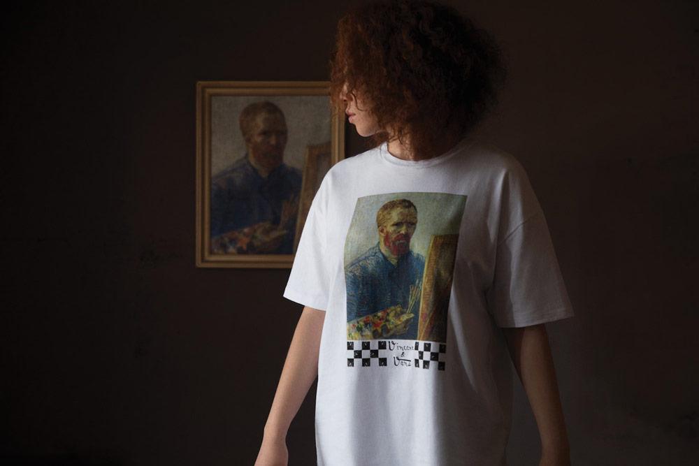 Vans x Van Gogh — bílé tričko — Autoportrét