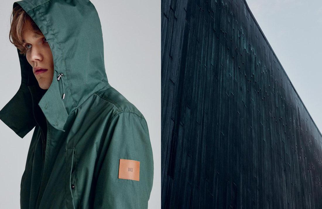 Makia — pánská zimní bunda s kapucí — zelená — fishtail parka