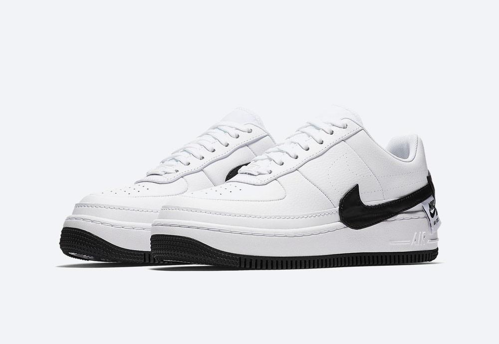 Nike Air Force 1 Jester XX — dámské sneakers — boty — tenisky — bílé, černé detaily