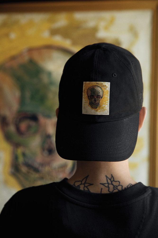 Vans x Van Gogh — černá kšiltovka — Lebka