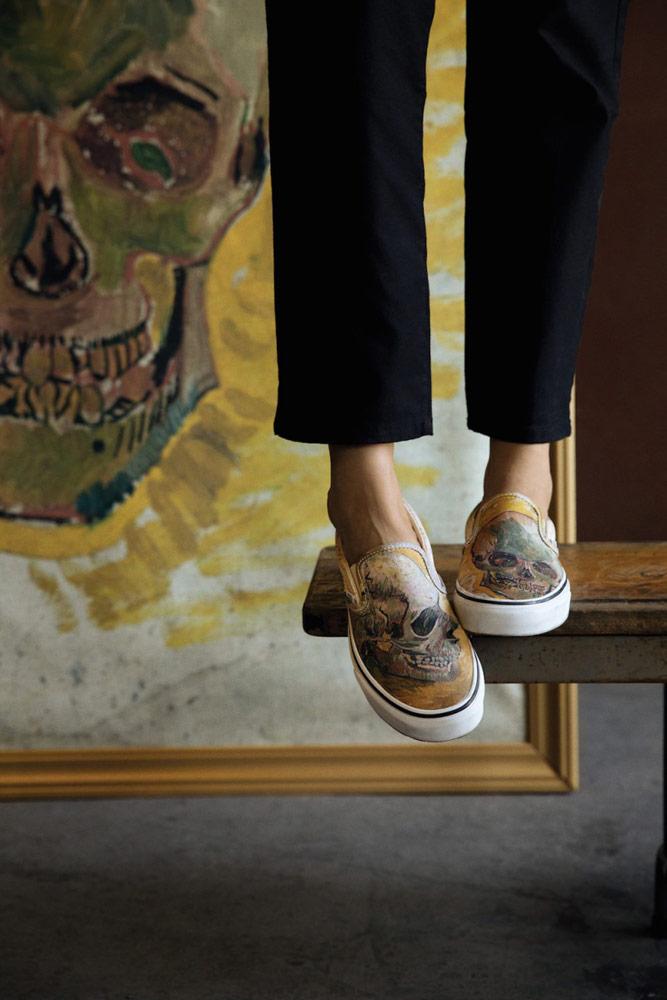 Vans x Van Gogh — tenisky Slip-On — Lebka