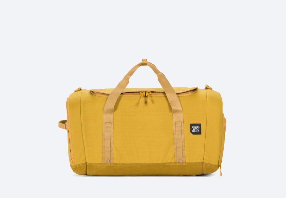 Herschel Supply — batoh — outdoor — městský — žlutý — Gorge Duffle Large — cestovní taška — kolekce Trail