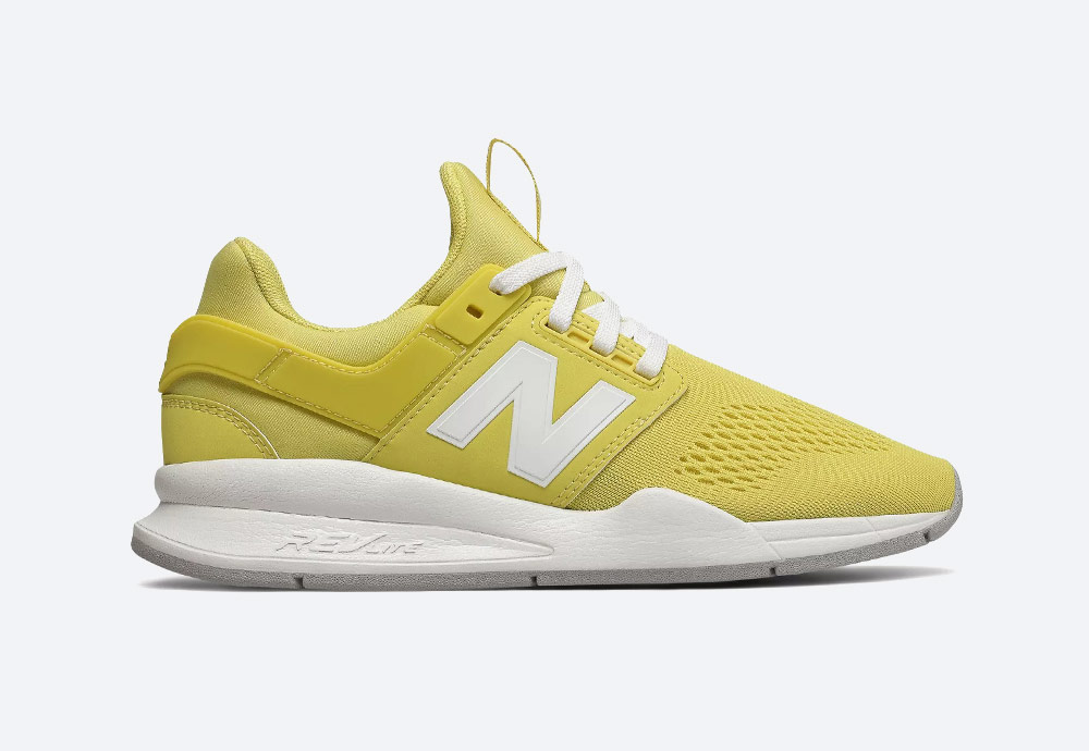 New Balance 247 — boty — dámské — tenisky — sneakers — žluté