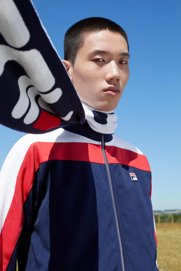 Fila — bílo-červeno-modrá bunda na zip — pánská — sportovní oblečení — podzim/zima 2018