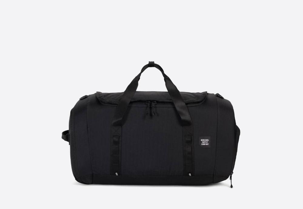 Herschel Supply — batoh — outdoor — městský — černý — Gorge Duffle Large — cestovní taška — kolekce Trail