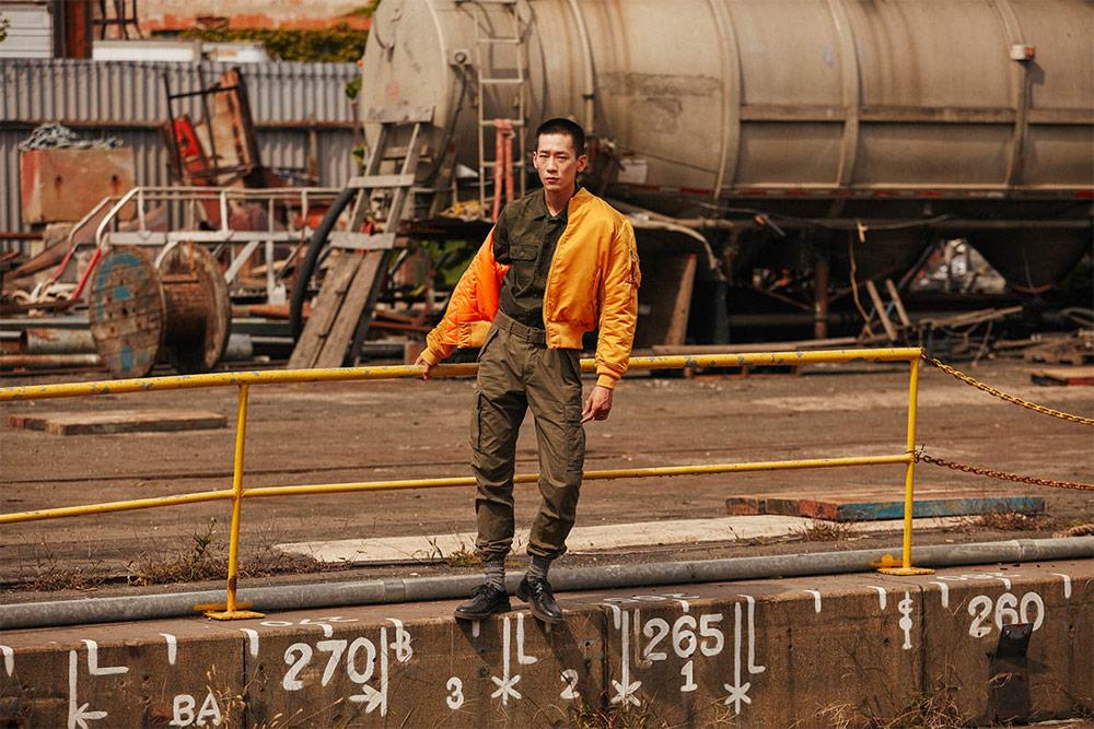 Alpha Industries — pánský bomber — oranžový — podzimní/zimní bunda do pasu — 2018