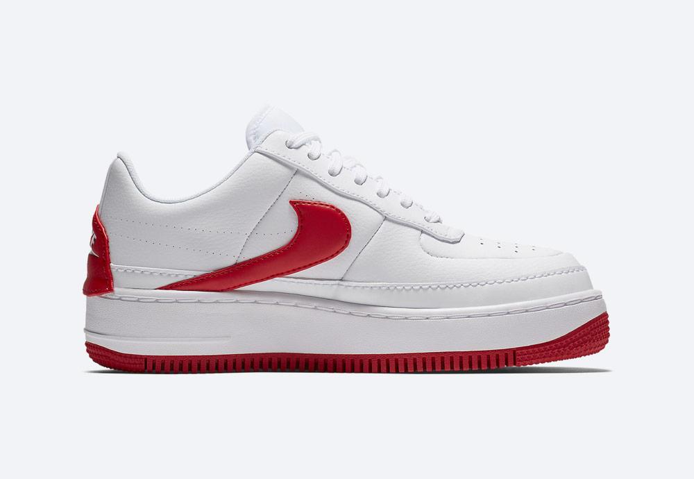 Nike Air Force 1 Jester XX — dámské boty — tenisky — sneakers — bílé, červené detaily