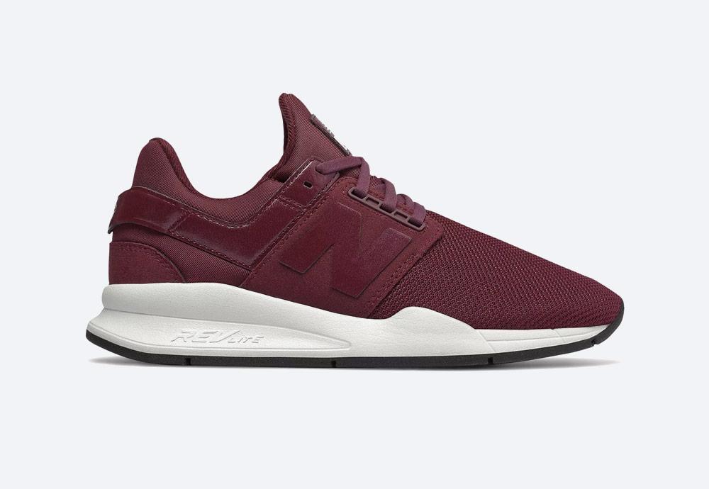 New Balance 247 — boty — dámské — tenisky — sneakers — vínové červené, bordó