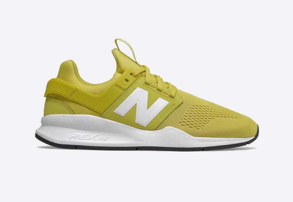 New Balance 247 — boty — pánské, dámské — tenisky — sneakers — žluté