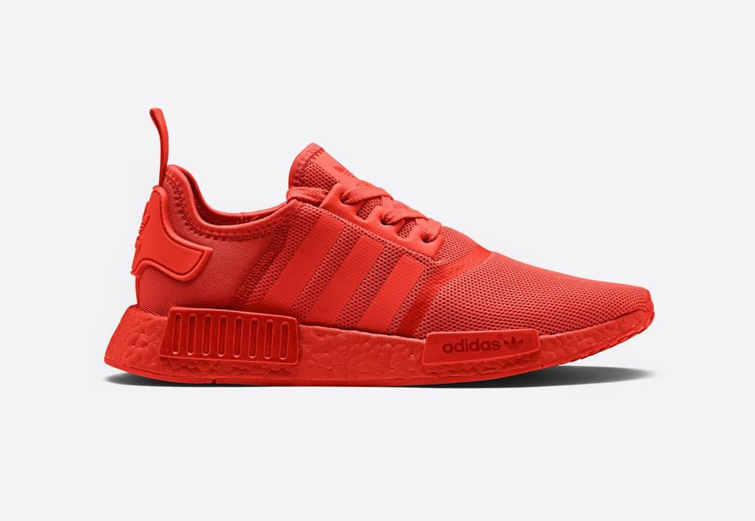 adidas Originals NMD_R1 – červené (Solar Red) – Monochrome Pack – tenisky, sneakers, boty – pánské, dámské
