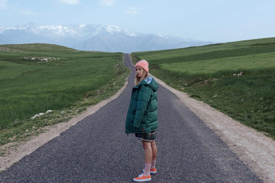 Femi Stories — prošívaná zimní bunda — zelená — dámská — podzim/zima 2018