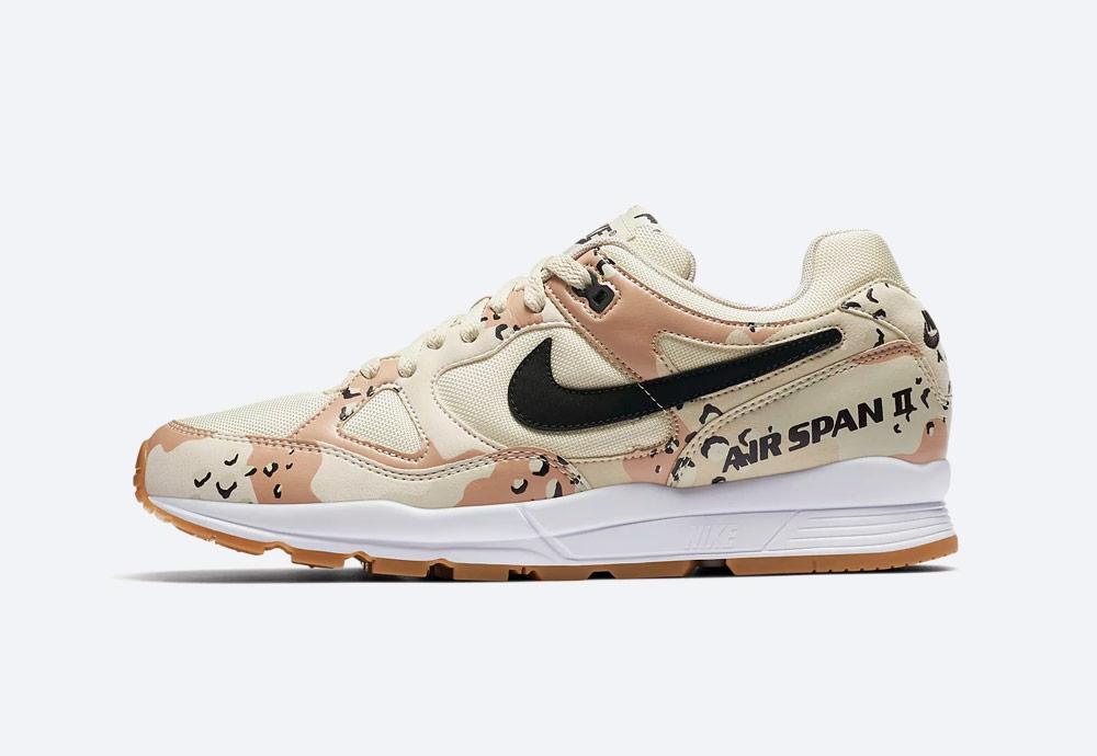 Nike Air Span II Desert Camo — boty — maskáčové, světle hnědé, krémové — tenisky — sneakers — pánské