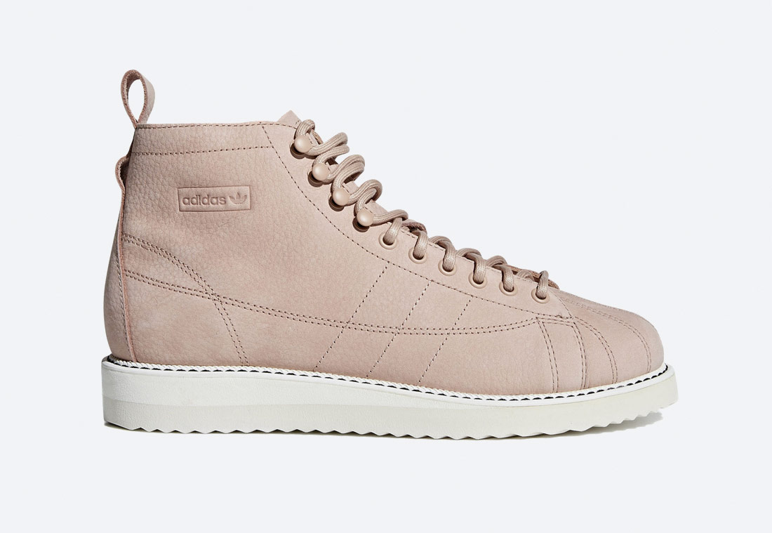 adidas Originals Superstar Boot W — kotníkové boty — dámské — růžové — podzimní/zimní