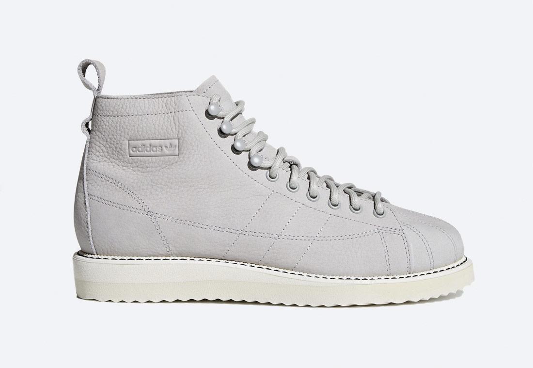 adidas Originals Superstar Boot W — kotníkové boty — dámské — šedé — podzimní/zimní