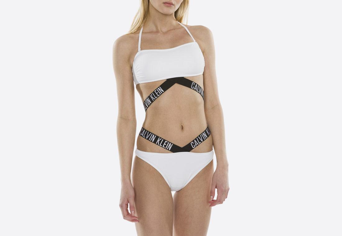 Calvin Klein Intense Power X — damské dvoudílné plavky (bikiny) — bílé
