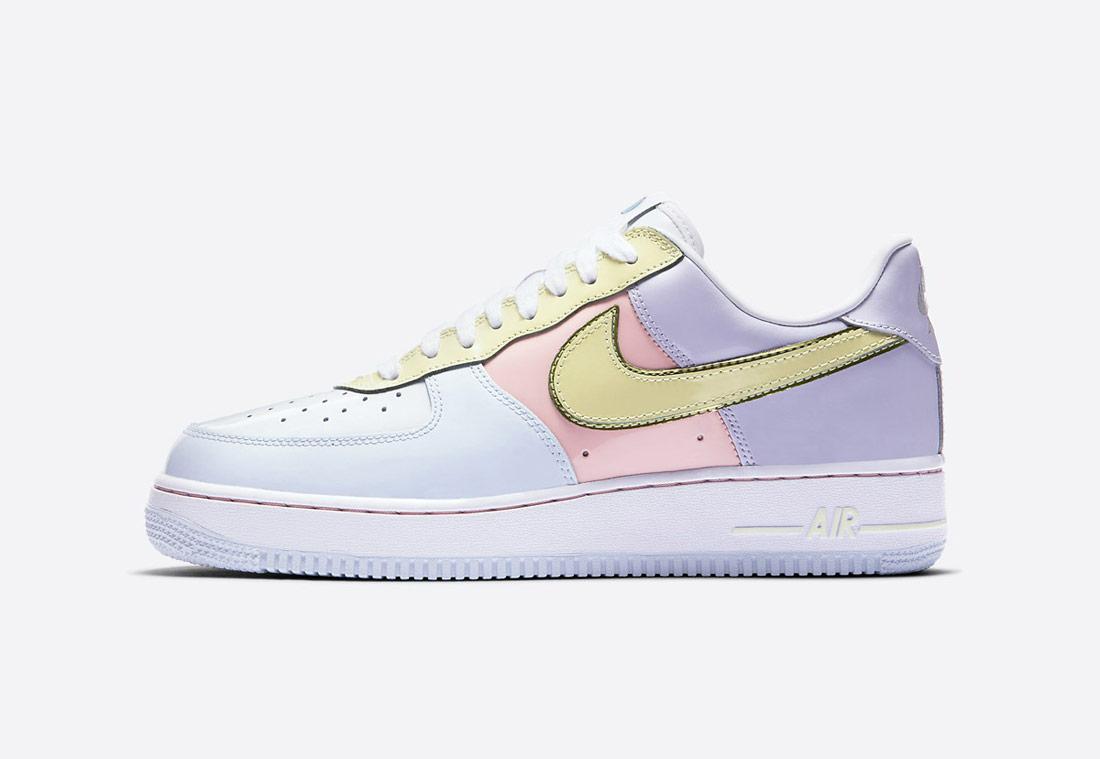 Nike Air Force 1 Low Retro — dámské tenisky — světle modré, růžové, fialové, limetkově zelené