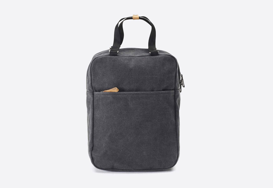 QWSTION – Simple Pack – tmavě šedý batoh – bavlněný