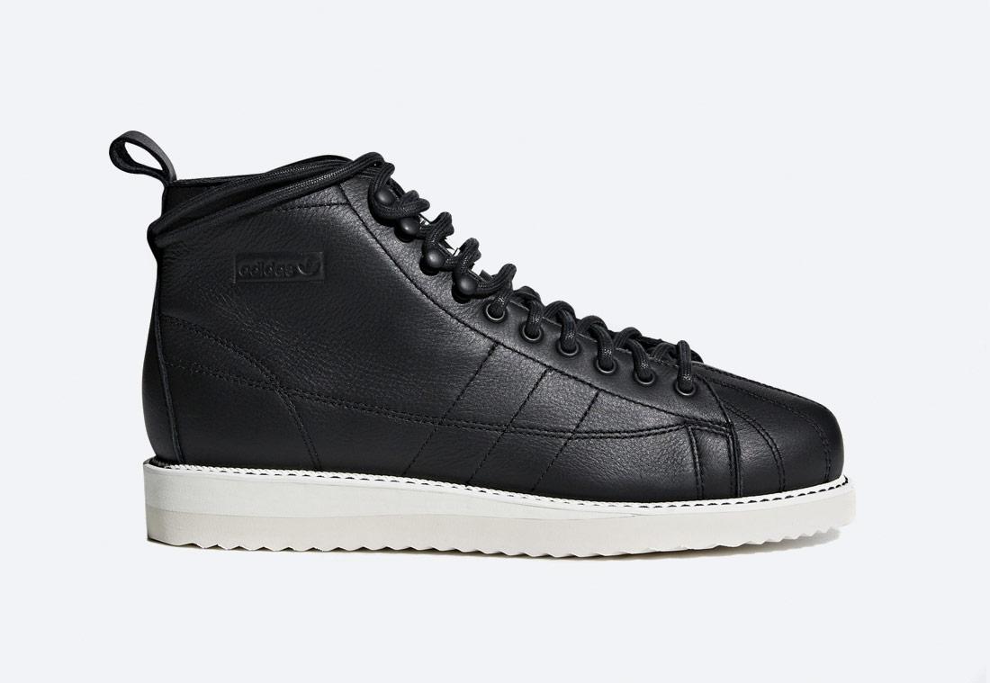 adidas Originals Superstar Boot W — kotníkové boty — dámské — černé — podzimní/zimní