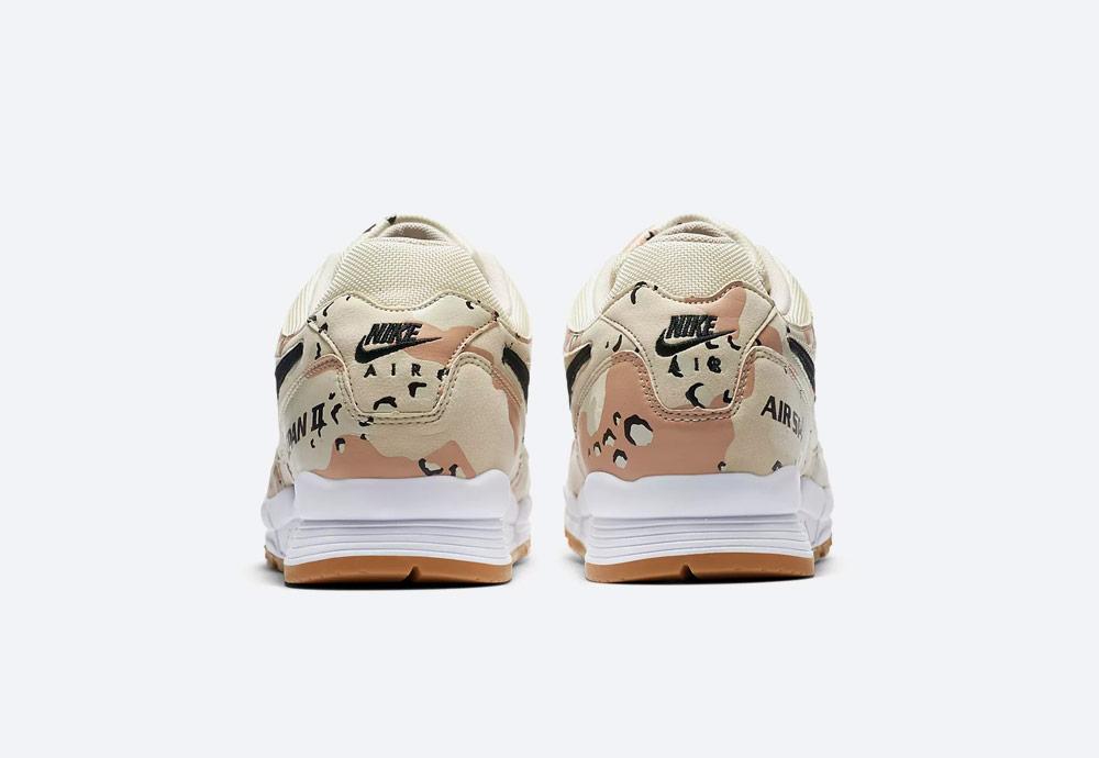 Nike Air Span II Desert Camo — zadní pohled