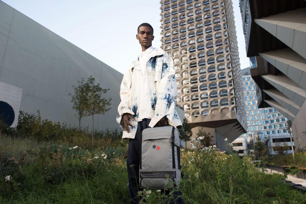 Pinqponq — batoh Cubik Large — městský — šedý melír