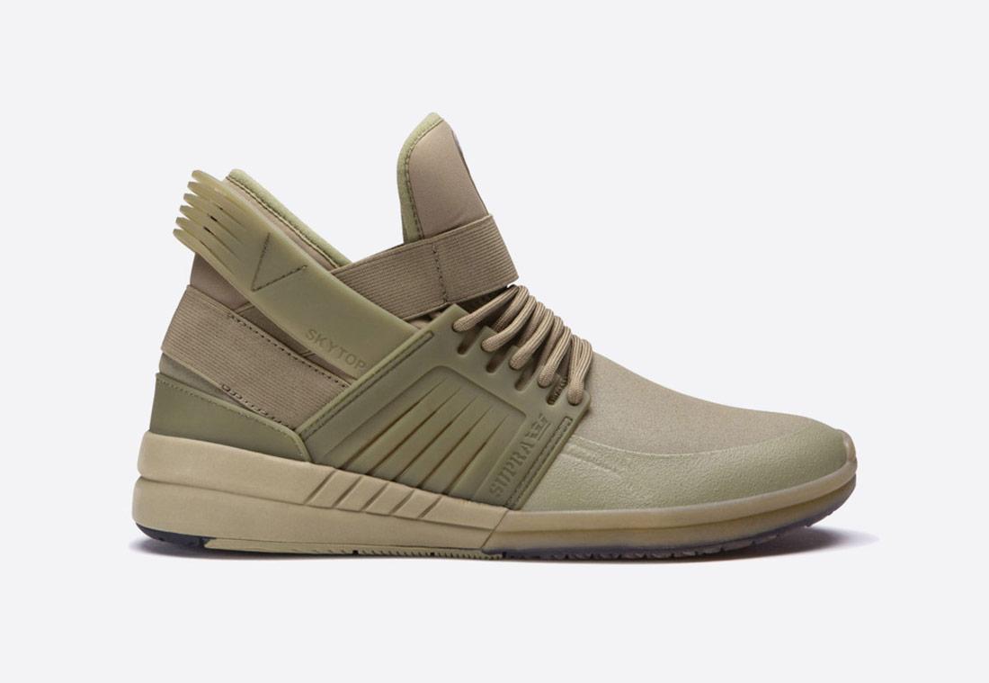 Supra Skytop V – pánské kotníkové boty – sneakers – olivově zelené