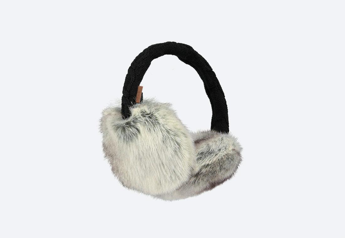 Fur Earmuffs — zimní klapky na uši — dámské — kožešinové, chlupaté — šedé, světle hnědé