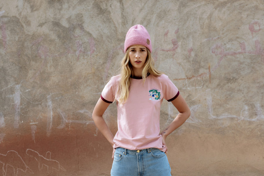 Femi Stories — růžový kulich — dámské růžové tričko — podzim/zima 2018