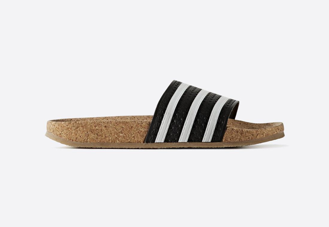 adidas adilette Cork — dámské korkové pantofle