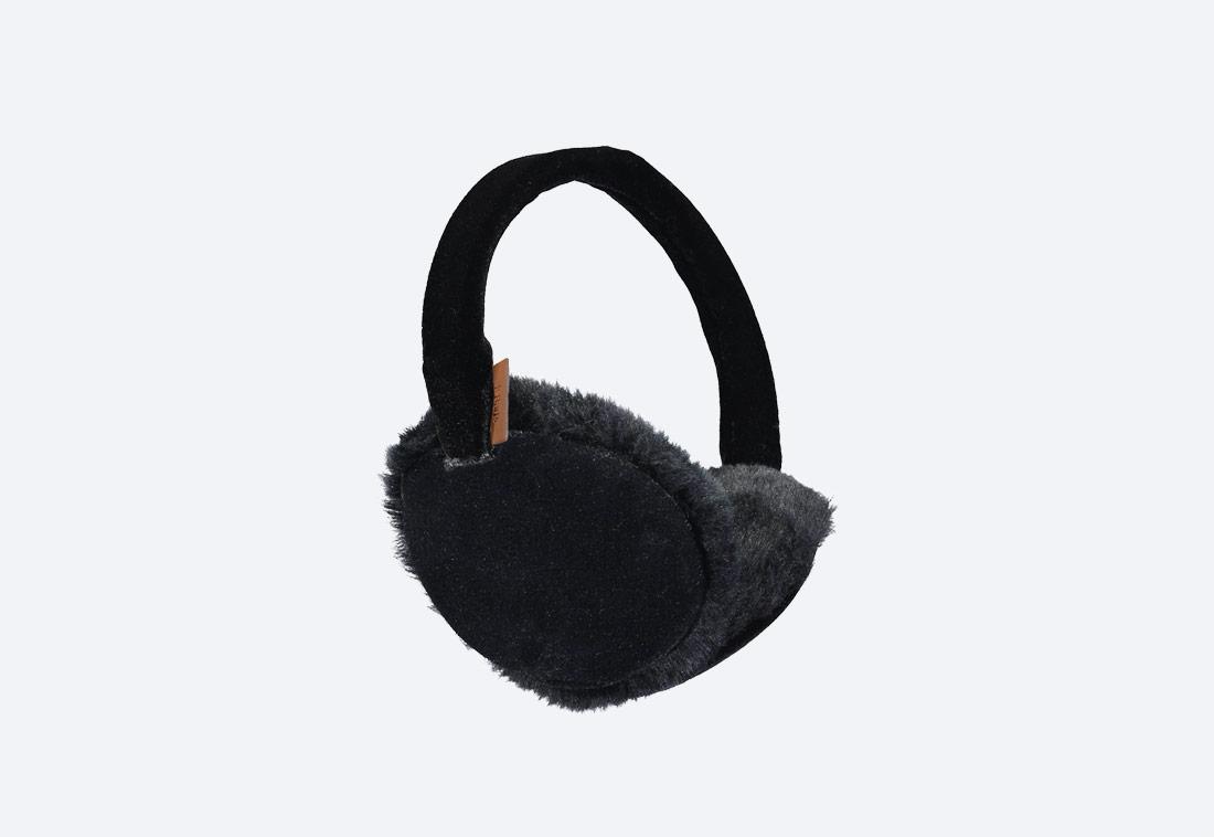 Velva Earmuffs — zimní klapky na uši — dámské — plyšové — černé